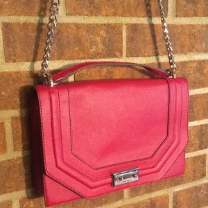 Nine West Large Red Adjustable Crossbody Bag